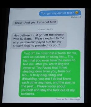STar's text to Kat